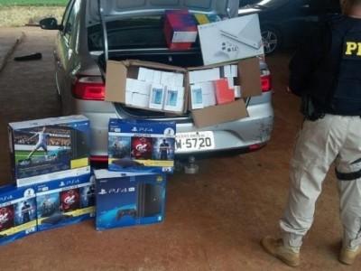 Agente penitenciário é preso com carga de videogames do PY avaliada em R$ 100 mi