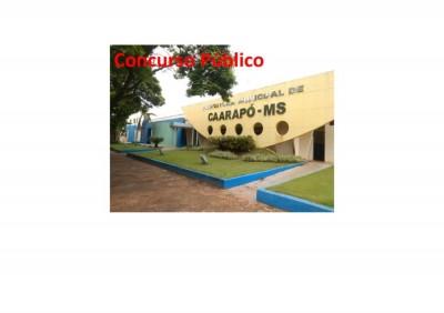 Prefeitura de Caarapó programa concurso público para o segundo semestre