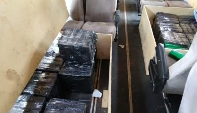 Caarapó: Quase uma tonelada de maconha é apreendida em carro e ônibus na MS-156