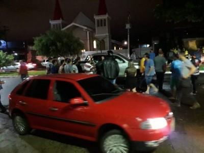 AGORA: Dois são metralhados no centro de Ponta Porã