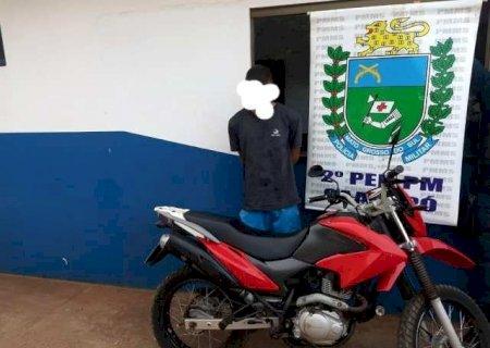 PM de Caarapó recupera moto que foi furtada na zona rural