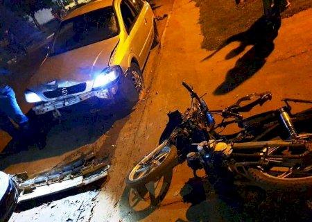 Motorista sem CNH atropela adolescente em motoneta em Caarapó