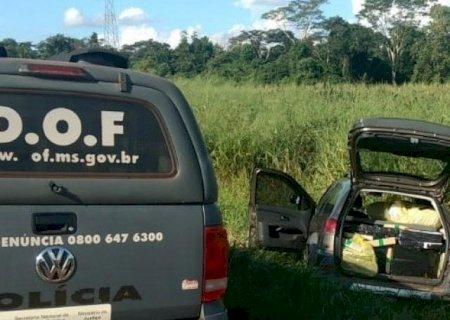 Em Caarapó, suspeito foge, mas comparsa é preso pelo DOF com 713 quilos de maconha