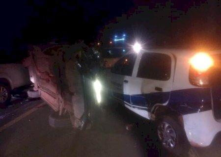 Acidente de trânsito envolve quatro veículos na BR-163 entre Dourados e Caarapó
