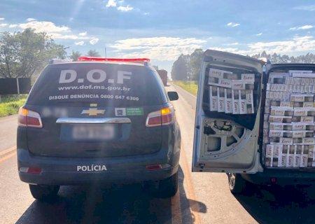Caarapó: Perua lotada de cigarros contrabandeados é apreendida após perseguição