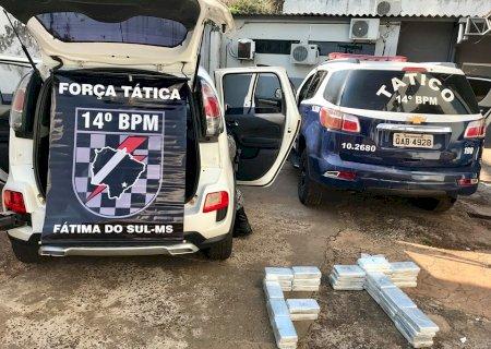 Força Tática  apreende cocaína e pasta base durante Operação Fronteira Segura II