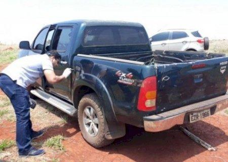 Polícia encontra Hilux levada de empresário torturado por assaltantes em MS
