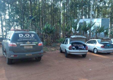 Ponta Porã: DOF apreende 105 pneus e 45 patinetes contrabandeados em três carros