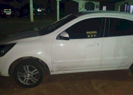 Carro furtado em Santo André/SP é recuperado pelo DOF em Caarapó