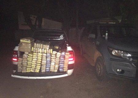 Após fugir do bloqueio policial veículo é apreendido pelo DOF com 150 quilos de maconha na região de Ponta Porã