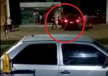 Ivinhema: Vídeo mostra momento de confusão e tiro que matou jovem em posto