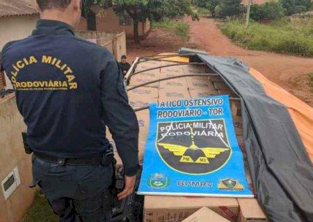 Quatro são presos com carga de cigarros avaliada em R$ 1 milhão em MS