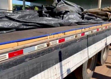 PRF apreende 1.4 T de maconha sob carga de açúcar em Caarapó