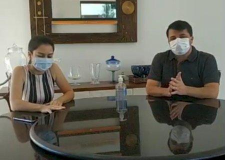 VÍDEO: Prefeito e Secretária falam sobre caso confirmado de coronavírus em Vicentina