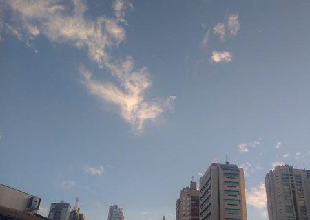 Quarta-feira será de tempo seco e temperatura de até 28°C em MS