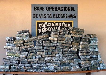 Polícia Militar Rodoviária apreende 743 kg de maconha na fronteira