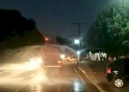 Central Energética Vicentina e Prefeitura realizam a desinfecção das ruas do município