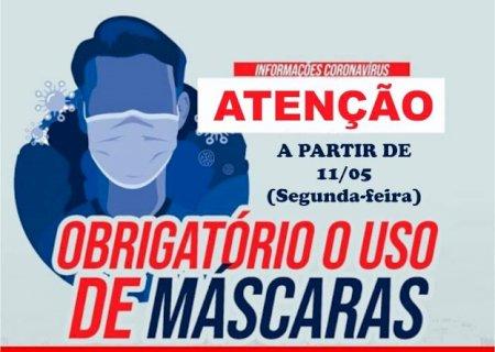 Em Vicentina, uso de máscara é obrigatório com multa de R$ 50 e R$ 500 para quem descumprir