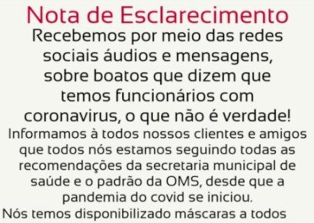 Nota de esclarecimento do Jorge Mercado Atacarejo