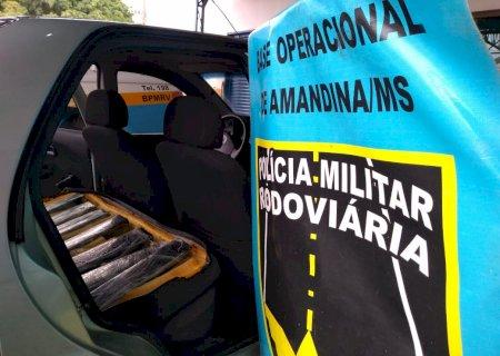 Ivinhema: Homem é preso transportando 50 kg de maconha para o Rio de Janeiro