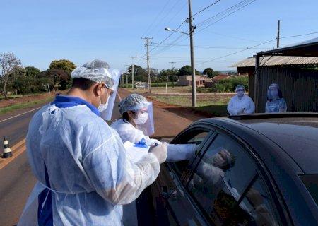 Barreira sanitária é realizada durante o \'feriadão\' para conter avanço da Covid-19 em Vicentina