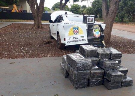 Polícias Militar e Civil de Deodápolis apreendem 573 quilos de maconha