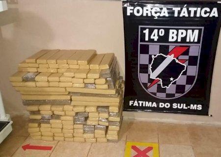 Força Tática apreende 166 kg de maconha na região de Deodápolis