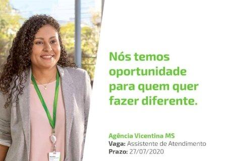 Sicredi contrata assistente de atendimento para agência de Vicentina