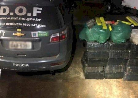 DOF apreende 450 kg de drogas durante fiscalização na MS-156 em Amambai