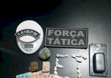 Força Tática fecha ponto de venda de drogas no Santa Terezinha, em Deodápolis