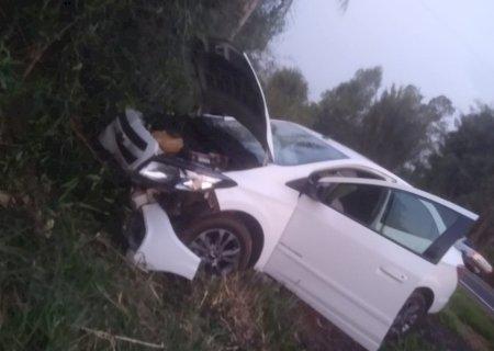 Acidente deixa homem ferido na BR-376 entre Deodápolis e Ivinhema