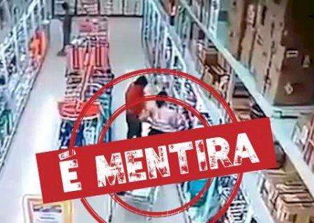 Vídeo que mostra criança colocando fogo no Atacadão é falso
