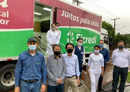 Unidade Móvel do Hospital de Amor está atendendo em Vicentina