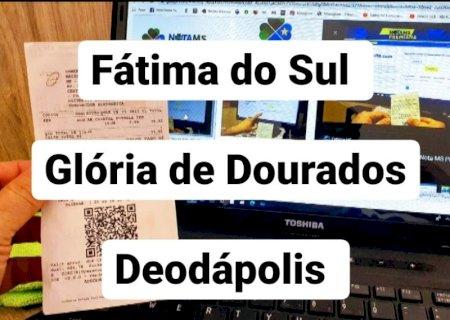 Fátima do Sul, Glória de Dourados e Deodápolis tem ganhador do Nota MS Premiada, CONFIRA AQUI