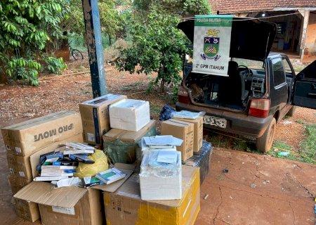 Carro carregado com produtos eletrônicos é apreendido em Itahum