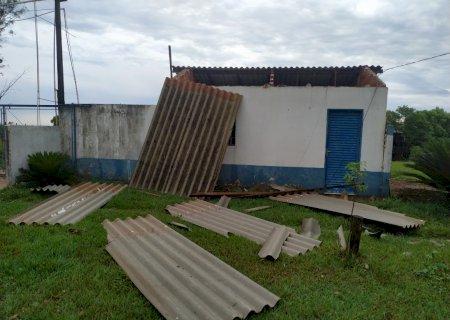 Vendaval destrói casas em Vila Rica e escritório de granja na Linha do Carajá