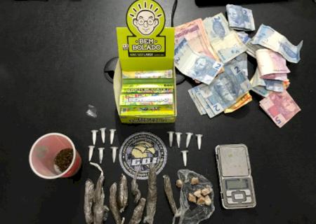 Abordagem em Mercedes acaba com 3 presos por tráfico de drogas