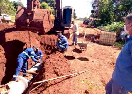 Obras de drenagem antecipam 100% de asfalto no distrito de Nova Esperança em Jateí