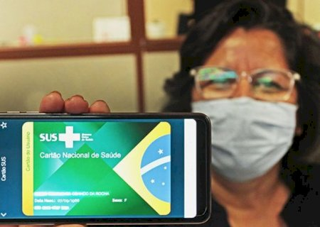 Com o aplicativo MS Digital cidadão tem acesso a versão online do cartão SUS