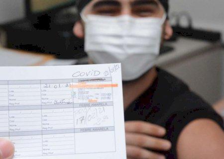 Equipes volantes imunizaram mais de 200 profissionais de saúdeem Dourados