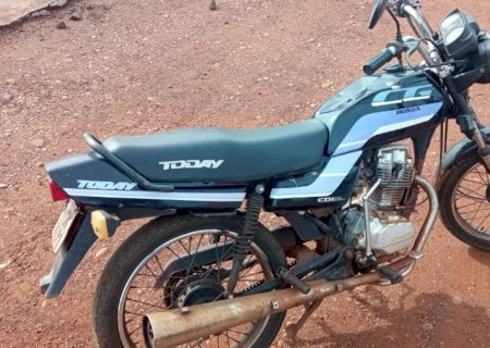 Motocicleta furtada em Glória de Dourados é recuperada pela GM de Dourados