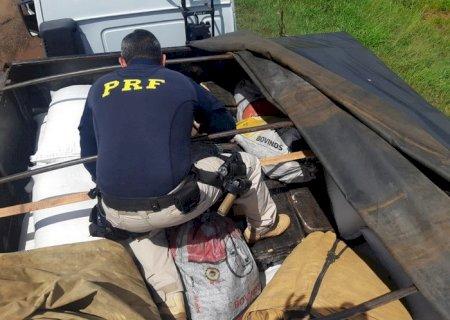PRF apreende quase meia tonelada de drogas sob carga de farinha de mandioca em MS