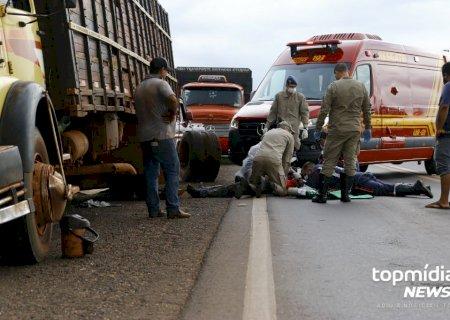 Mecânico sofre mal súbito e morre ao consertar eixo de caminhão perto de Campo Grande