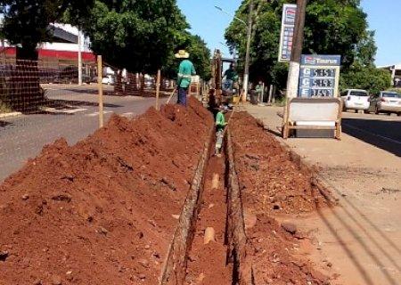 Sanesul executa obras de esgotamento sanitário em Deodápolis