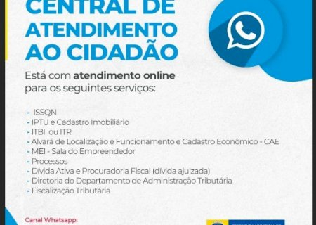 Prefeitura de Dourados disponibiliza atendimento online via WhatsApp