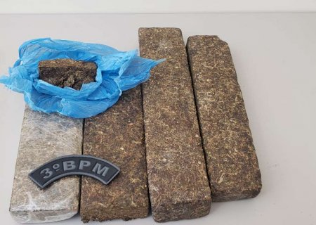 PM prende homem que estava com tabletes de maconha em mochila em Dourados