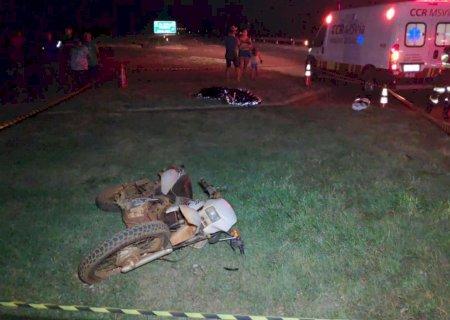 Homem retornava da casa da família quando sofreu acidente na BR-163 e morreu