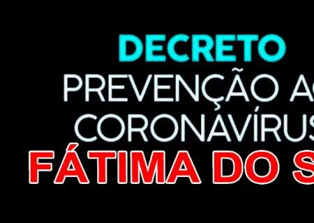 Prefeitura de Fátima do Sul estende decreto por mais 14 dias em prevenção ao contágio da Covid-19