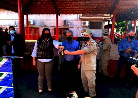 Naviraí recebe viatura 0km para ações de resgate do Corpo de Bombeiros