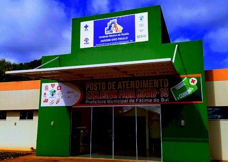 Cai para 82 o número de casos ativos da covid e registra 02 novos casos neste sábado em Fátima do Sul